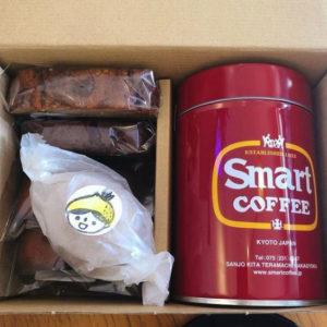 スマートコーヒー缶とウィークエンドケーキのセット